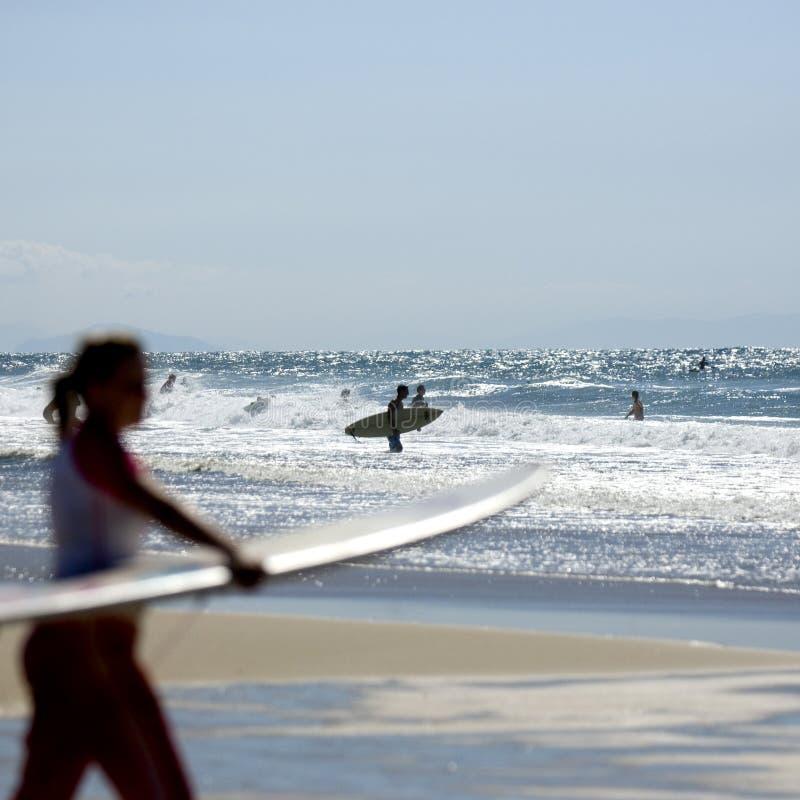 surfers στοκ εικόνα με δικαίωμα ελεύθερης χρήσης