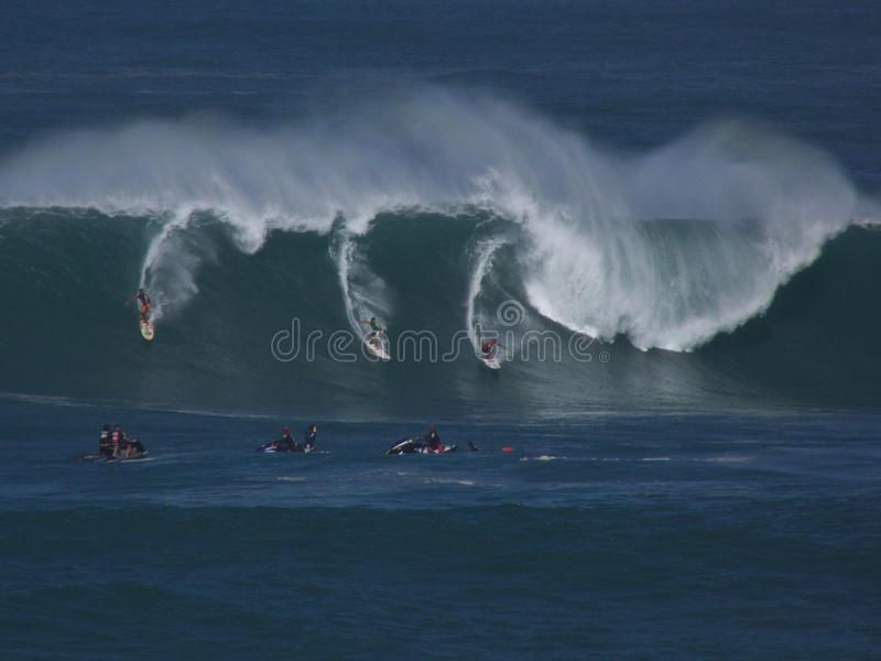 Surfers d'Eddie Aikau photo stock