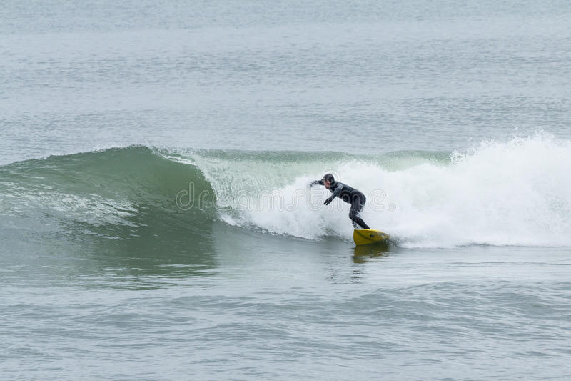 Surfers de tailles de bord de la mer image libre de droits