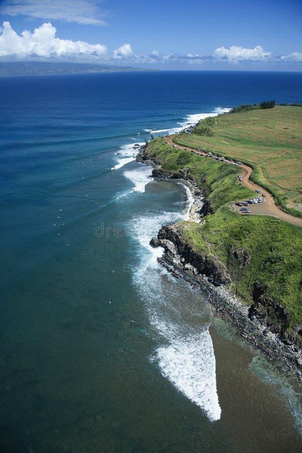 Surfers in Maui, Hawaï. stock foto