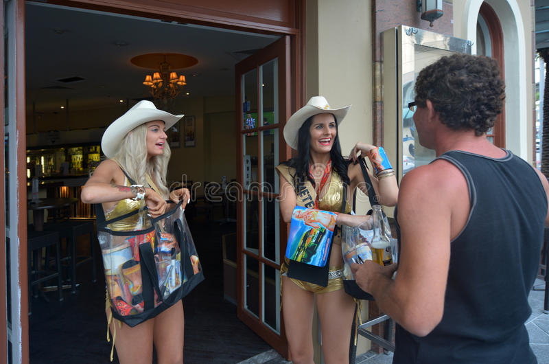 Surfers Paradise Meter Maids in Gold Coast Australia stock photography