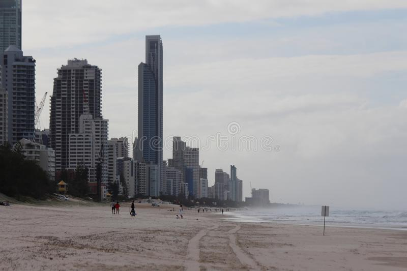 Surfers Paradise by The Sea. Surfers Paradise is a suburb within the local government area of City of Gold Coast in Queensland, Australia. At the 2011 census stock photos