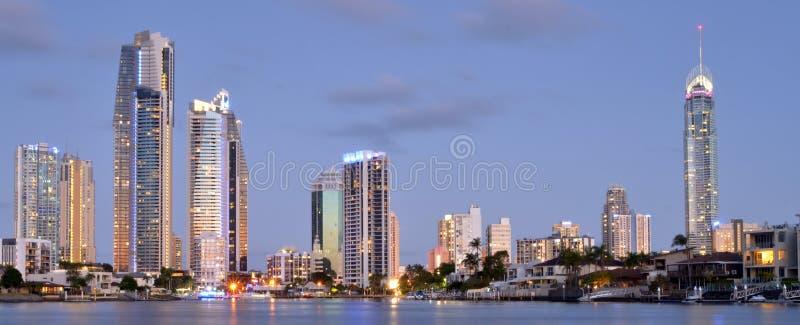 Surfers Paradise Skyline -Queensland Australia stock photography