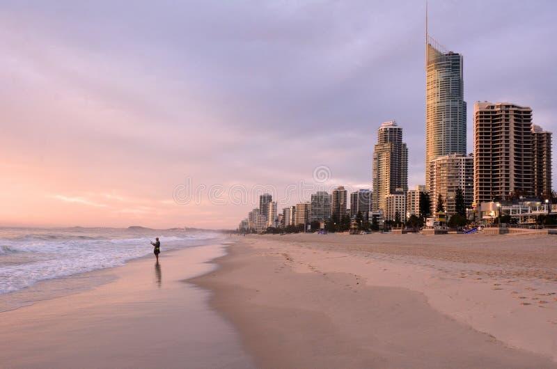 Surfers Paradise Skyline -Queensland Australia stock image