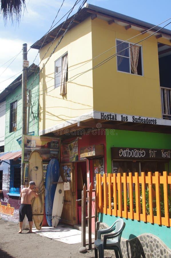 Surfers shop in El Tunco, El Salvador royalty free stock photography
