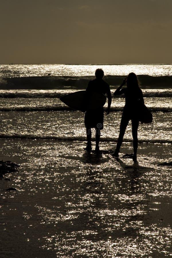 Free Surfers Sunset Stock Photo - 6232180