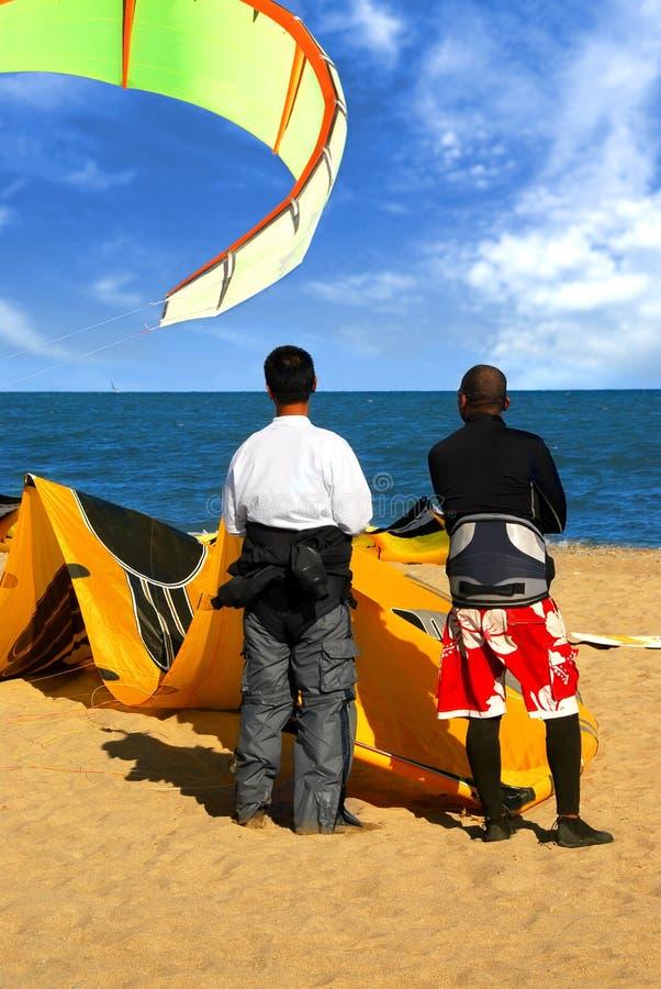 Surfers van de vlieger stock foto