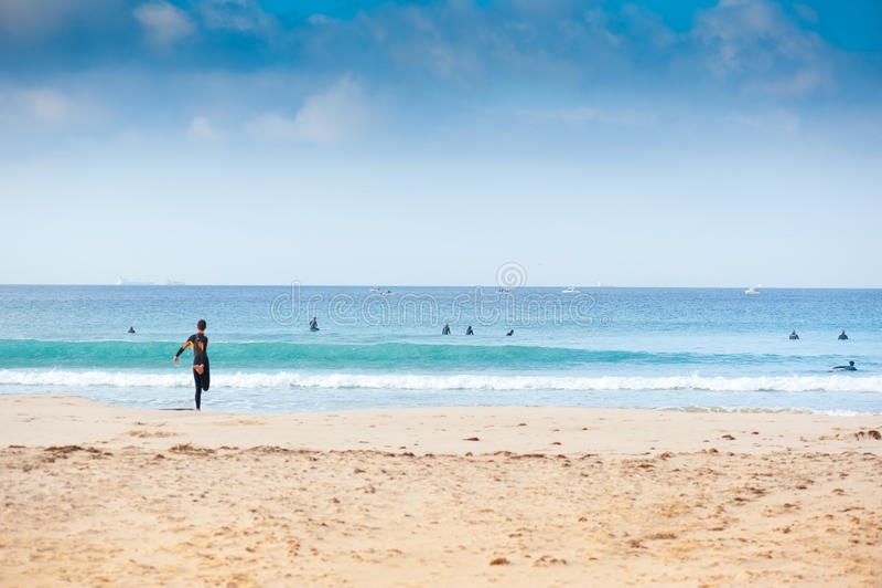 Surfers stock image