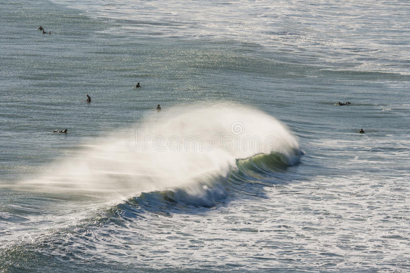 Download Surfers waiting for wave stock photo. Image of wave, wetsuits - 50809300