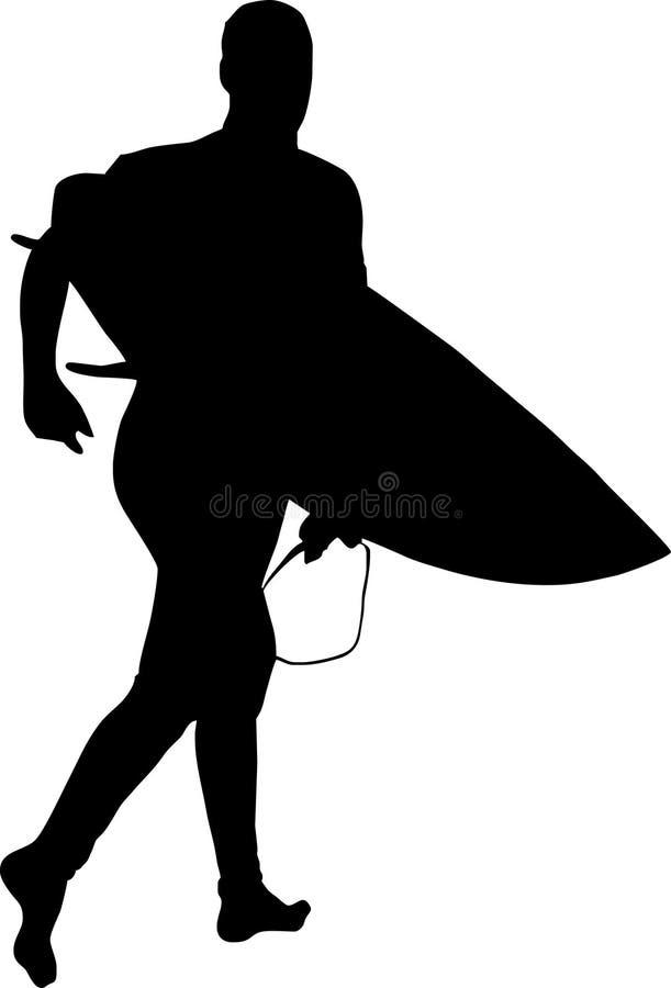 Surferschattenbild lizenzfreie abbildung