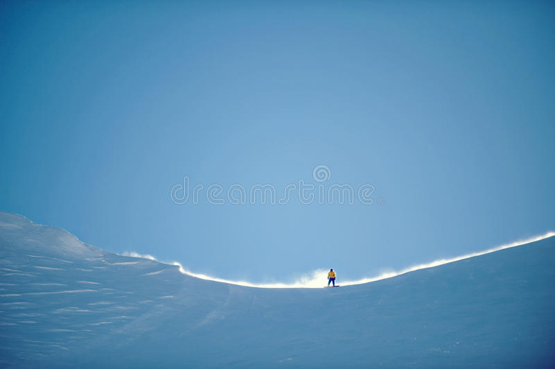 Surfeur de Mammoth Mountain image stock