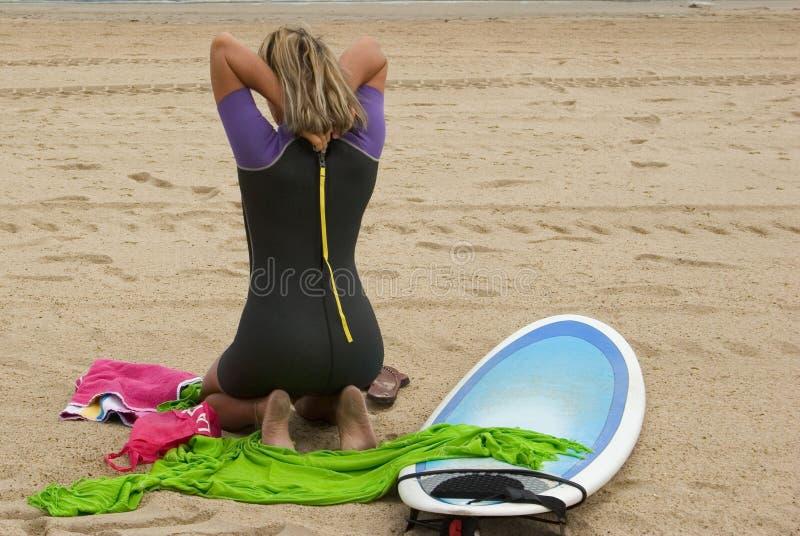 Surfeuse 2 stock foto's