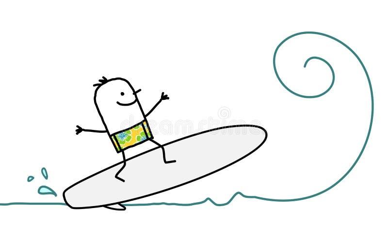 Surfez sur l'onde illustration libre de droits