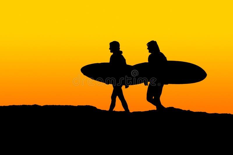 surfiarze rano zdjęcie royalty free