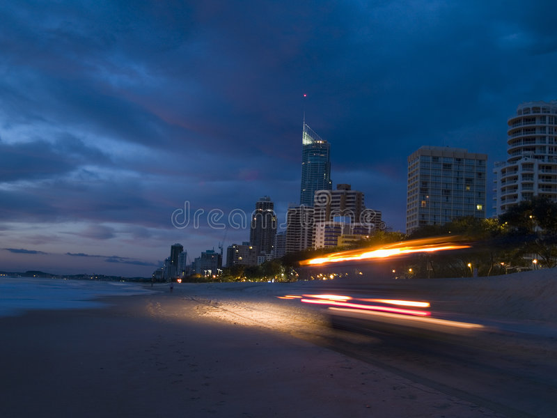 surfiarze sunrise zdjęcie stock
