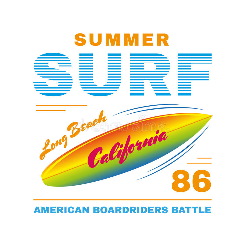 SurfIing poster stock illustration