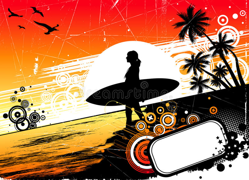 surfing ilustracja wektor