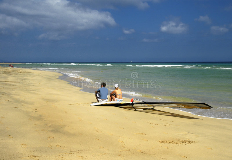 After surfing royalty free stock image
