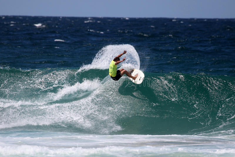 Surfing australia royalty free stock images