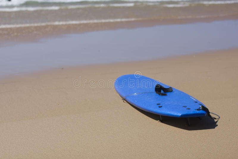 Surfing board. On the beach stock images