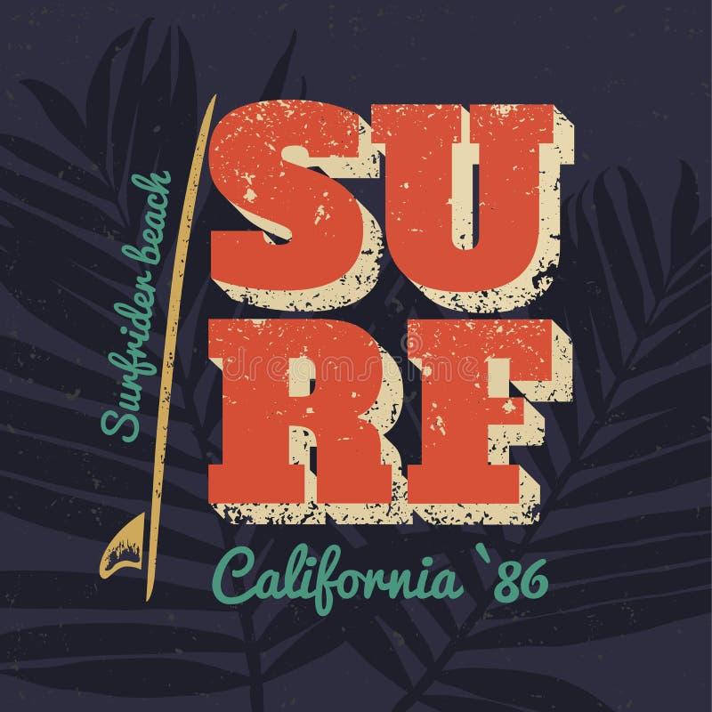Surfing royalty free illustration