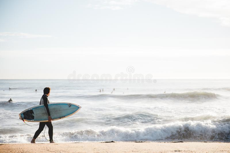 Surfing Equipment And Supplies, Wave, Surfboard, Sea stock image