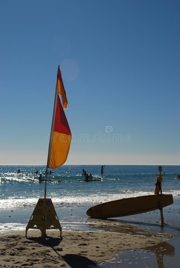 Surfing at Glenelg, South Australia stock photos