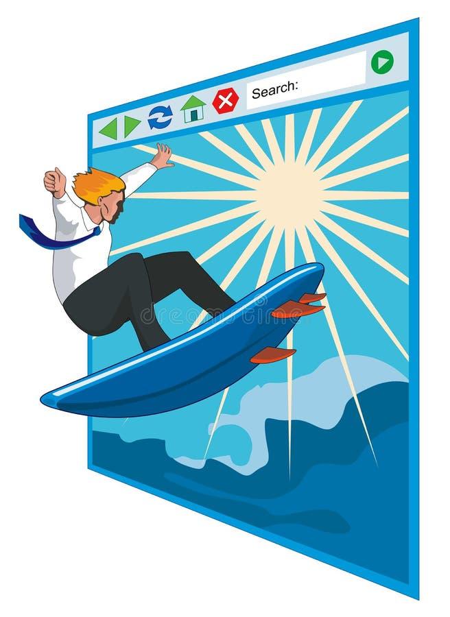 Surfing the internet stock illustration
