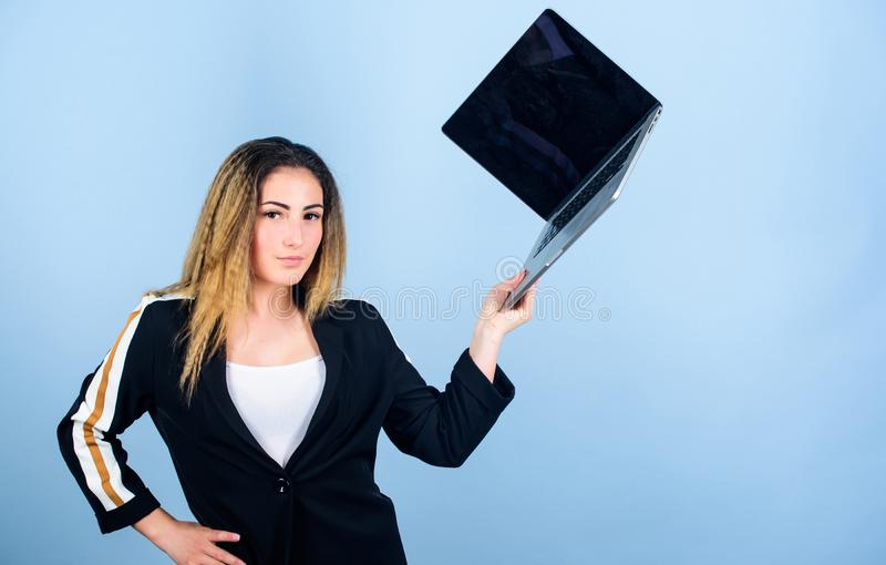 Surfing internet. Social networks and blog. Information source. Looking for a job. Job openings for junior developer royalty free stock images