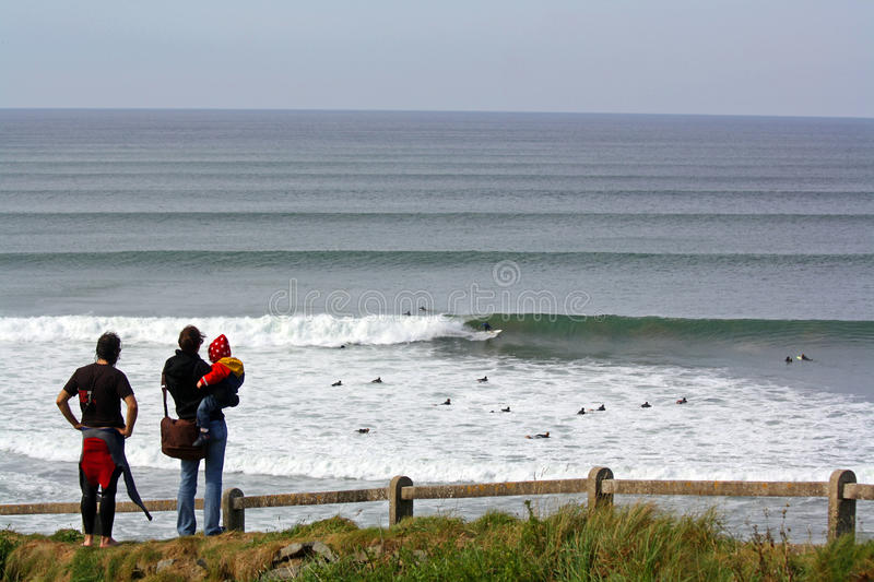 Download Surfing Lahinch editorial stock photo. Image of atlantic - 15898143