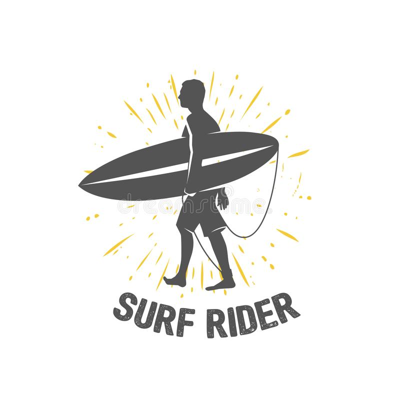 Surfing logo. Ride the wave. Surf rider. royalty free illustration