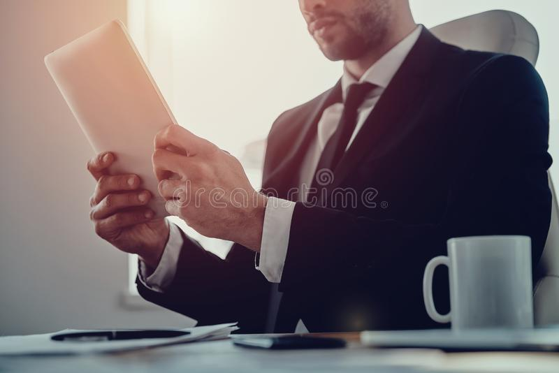 Surfing the net. royalty free stock photo