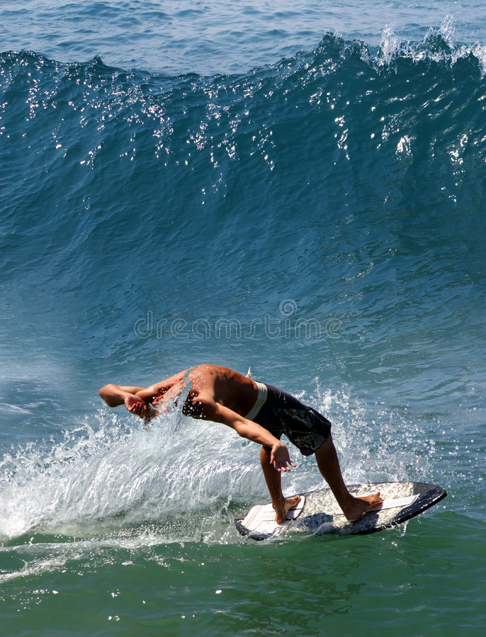 Surfing in the Pacific Ocean royalty free stock photography