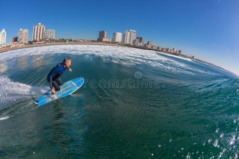 Surfing Rider Water Bottom Turn Editorial Photo