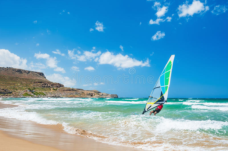 Surfing on the sea coast. stock photos