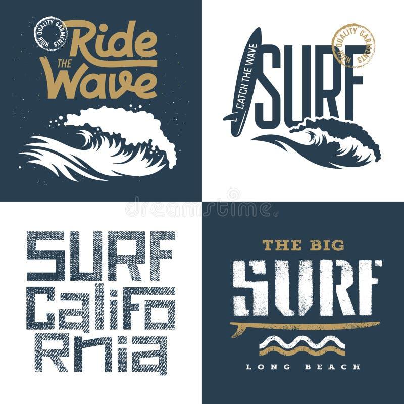 Surfing set 002 royalty free illustration
