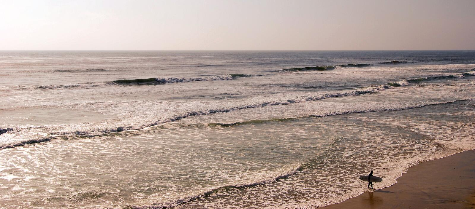 Surfing Southern California royalty free stock photography