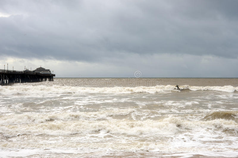 Download Surfing in the storm stock photo. Image of dirty, water - 12659186