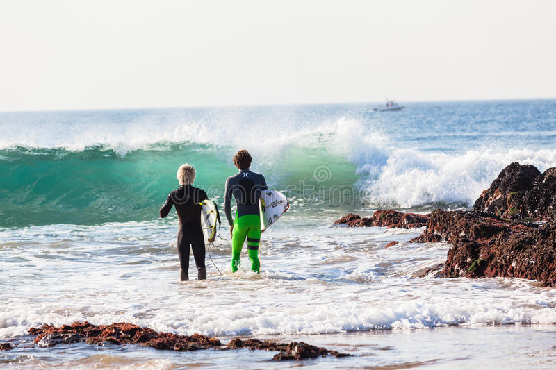 Surfing Surfer Action Blue Wave royalty free stock photos