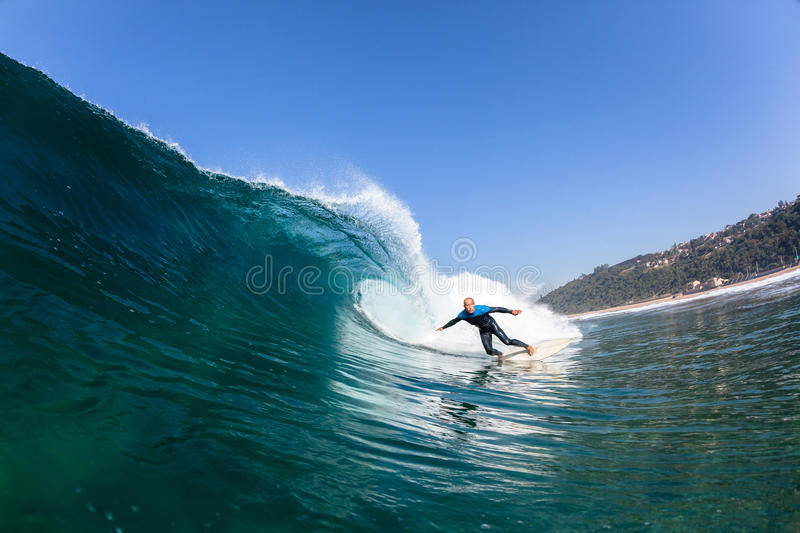 Surfing Surfer Ride Wave Water royalty free stock photography