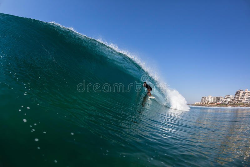 Surfing Surfer Tube Ride Water royalty free stock images