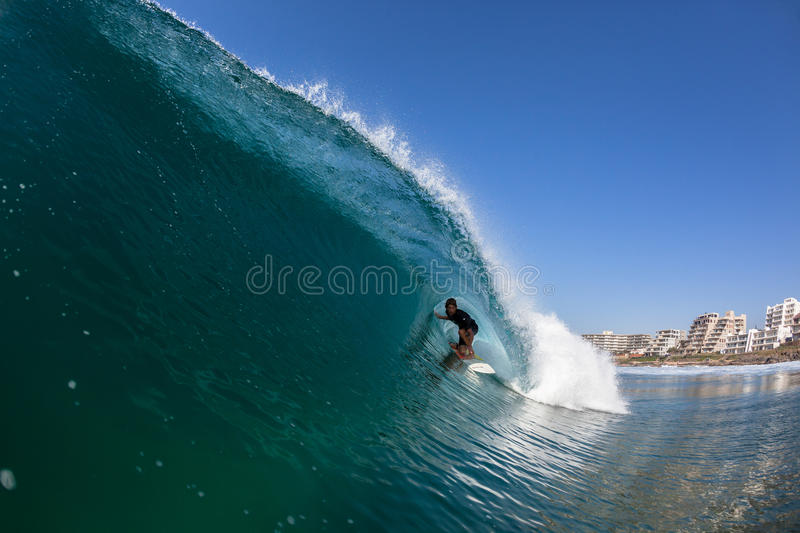 Surfing Surfer Tube Ride Water royalty free stock photo