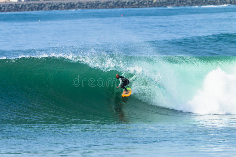 Surfing Surfer Tube Ride Wave royalty free stock photos