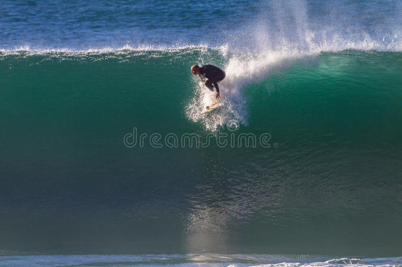 Surfing Take Off Wave stock images