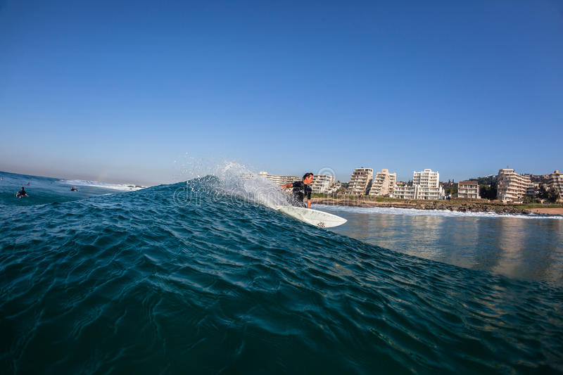 Surfing Water Balito Land stock photo