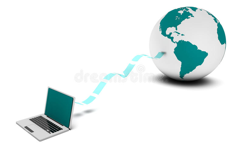 Surfing the Web royalty free stock photos