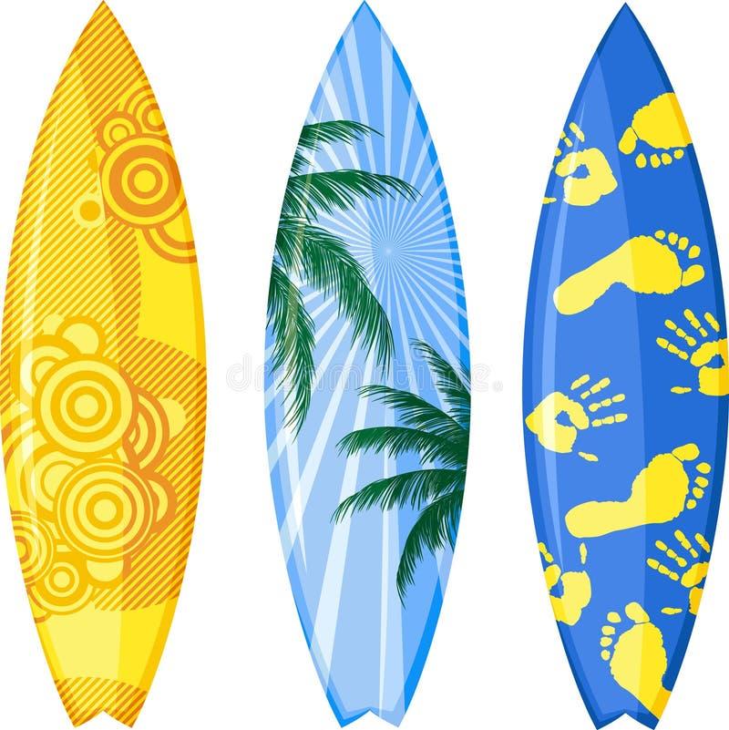 surfingbräda stock illustrationer