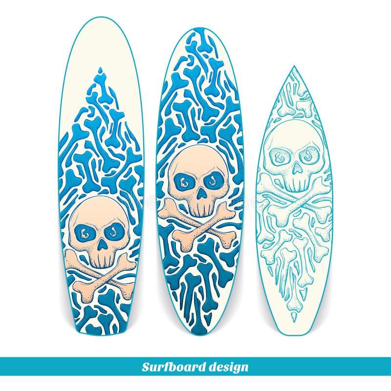 Surfingbrädadesign en royaltyfri illustrationer