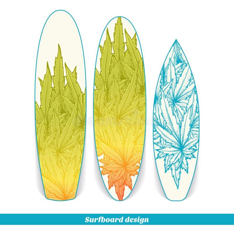 Surfingbrädadesign två vektor illustrationer