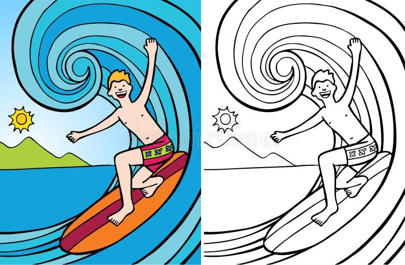 surfingowiec ilustracji